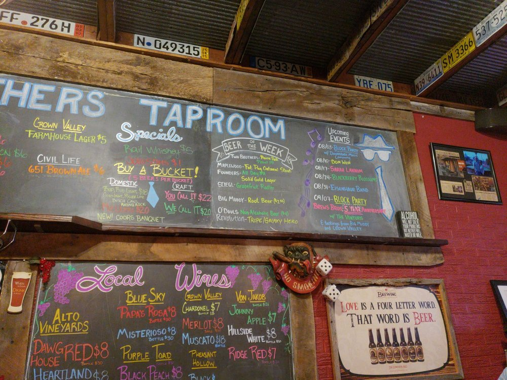 Brews Brothers Taproom: 1105 Chestnut St, Murphysboro, IL