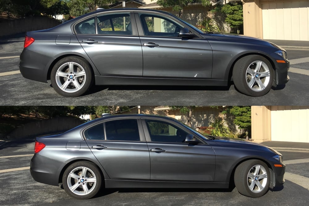 2013 bmw 328i window tinting before after 35 front 18 for 18 percent window tint