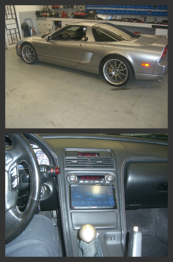 acura nsx custom dash - mobile video & navigation screen - yelp