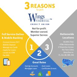 wings financial credit union 7300 france ave s edina mn yelp. Black Bedroom Furniture Sets. Home Design Ideas