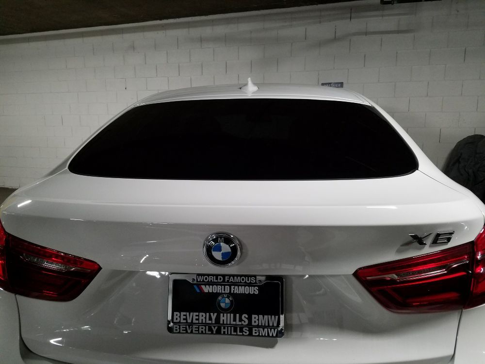 The final look of the bmw x6 backwindow yelp for 14 window tint