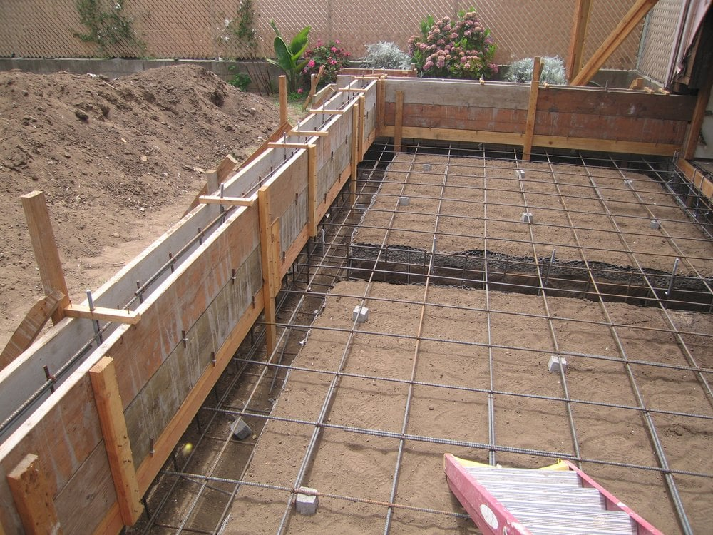 A New Reinforced Foundation And Concrete Slab