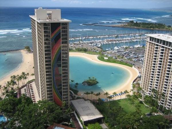 Hilton Hawaiian Village Waikiki Beach Photo Gallery: Balcony View From 32nd Floor Of Tapa Tower
