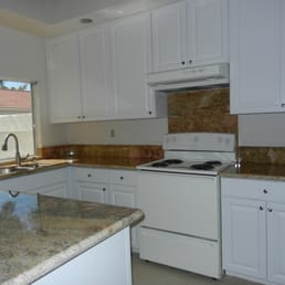prefabricated granite countertop from Rainbow Stone- just finished ...
