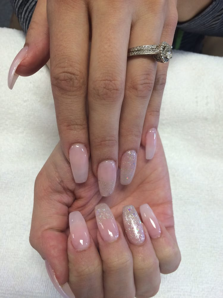Natural looking nails with a little sparkle - Yelp