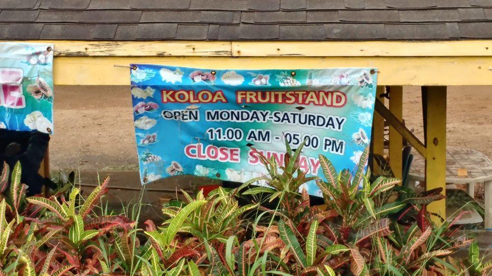 Koloa Fruit Stand: Koloa, HI