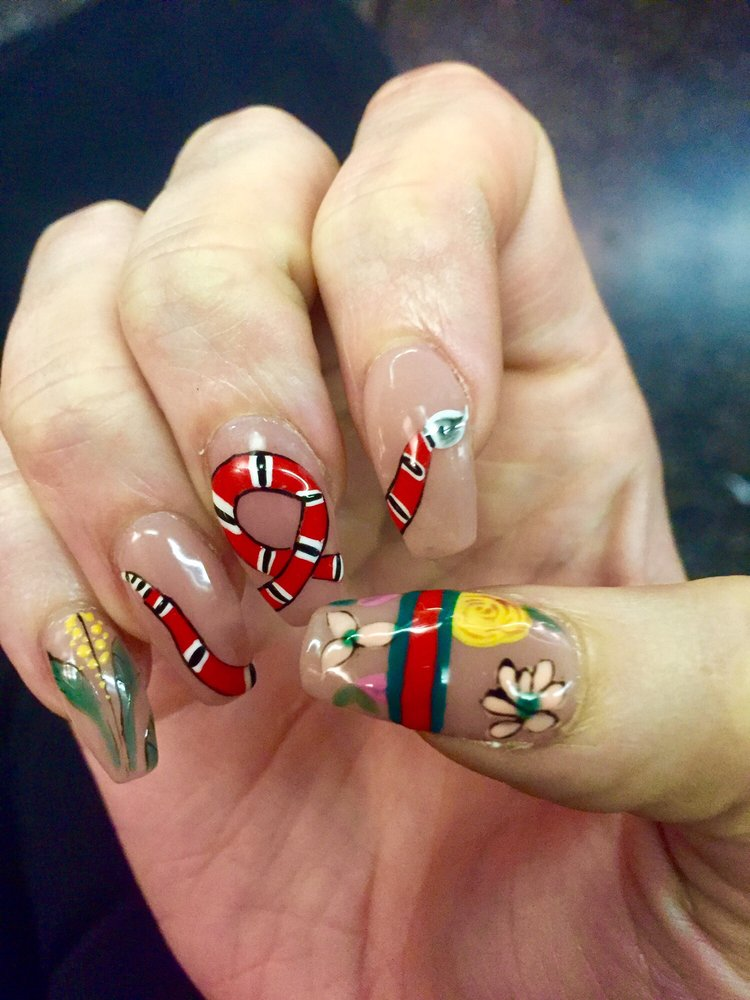 Photo Of Akiko Nails New York Ny United States Gucci Inspired