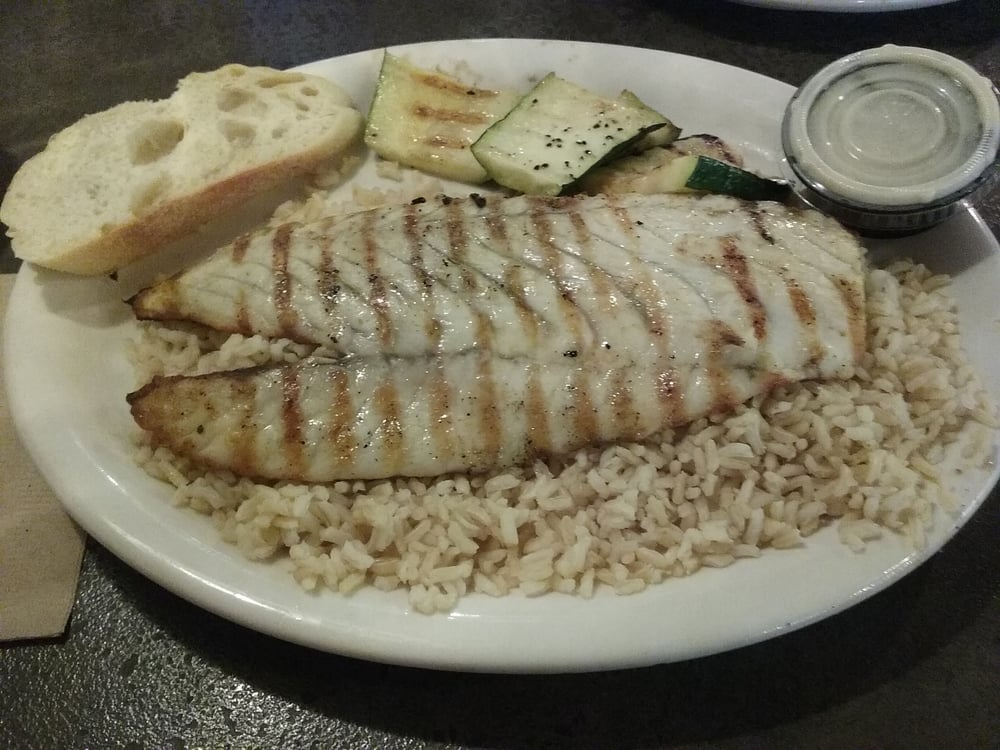 Barramundi grilled butter sauce side discount 11 vs 12 for California fish grill