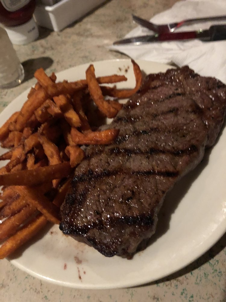 Food from Trail Boss Steakhouse
