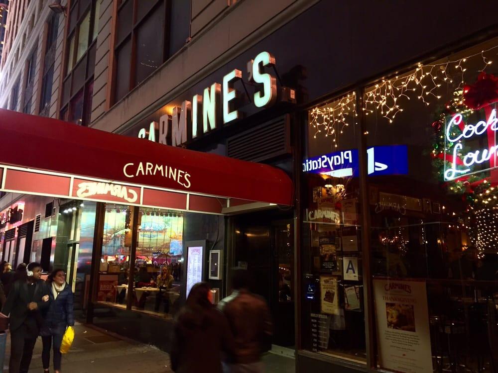 Carmine 39 s family style italian restaurant storefront yelp for Carmines nyc