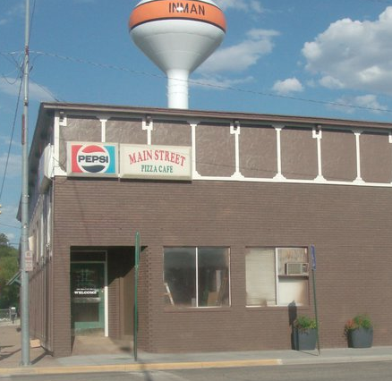 Main Street Pizza Cafe: 100 S Main St, Inman, KS