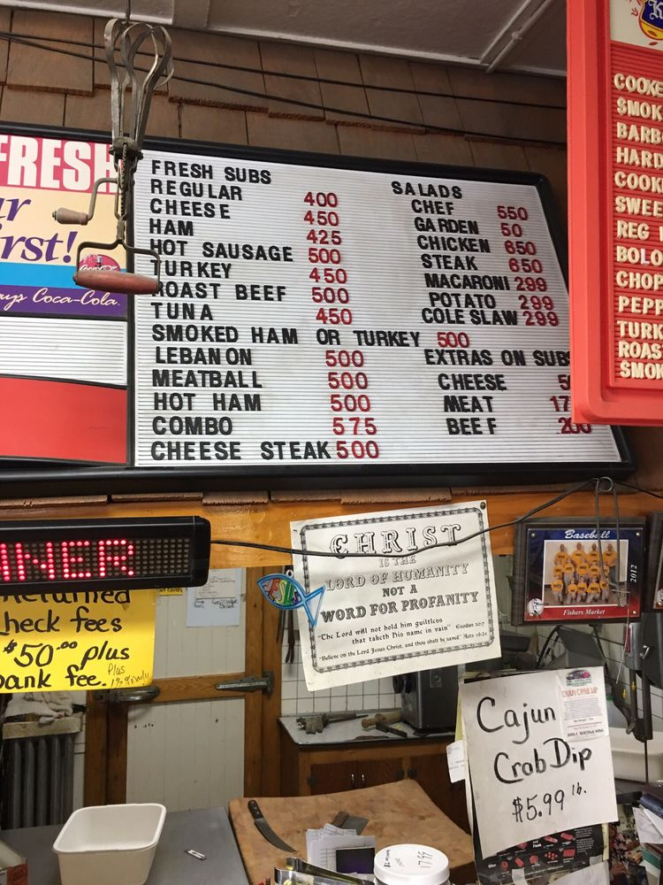 Fisher's Market: 100 Turnpike St, Milesburg, PA