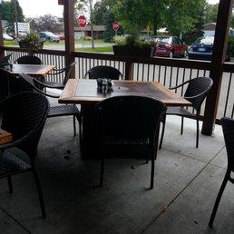 Bourbon Butcher Kitchen Bar Farmington : Fire pit tables on the patio - Yelp