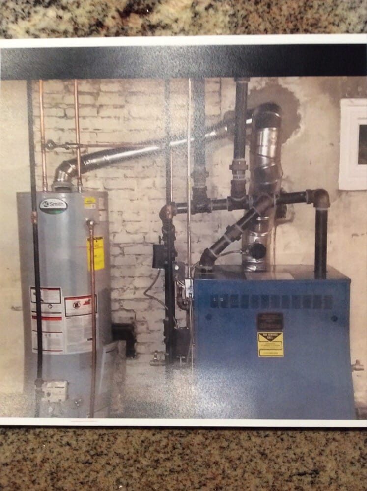 AO Smith hot water heater and Burnham steam natural gas boiler. - Yelp