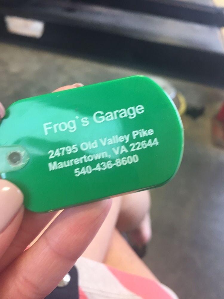 Frogs Garage: 24795 Old Valley Pike, Maurertown, VA