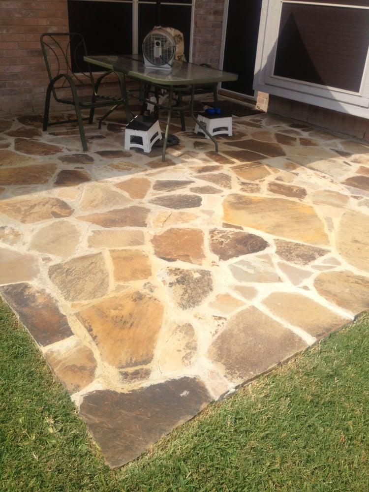 Flagstone Overlay On Concrete Patio Yelp