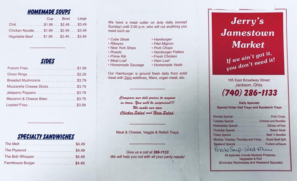 Jerry's Jamestown Market: 185 E Broadway St, Jackson, OH