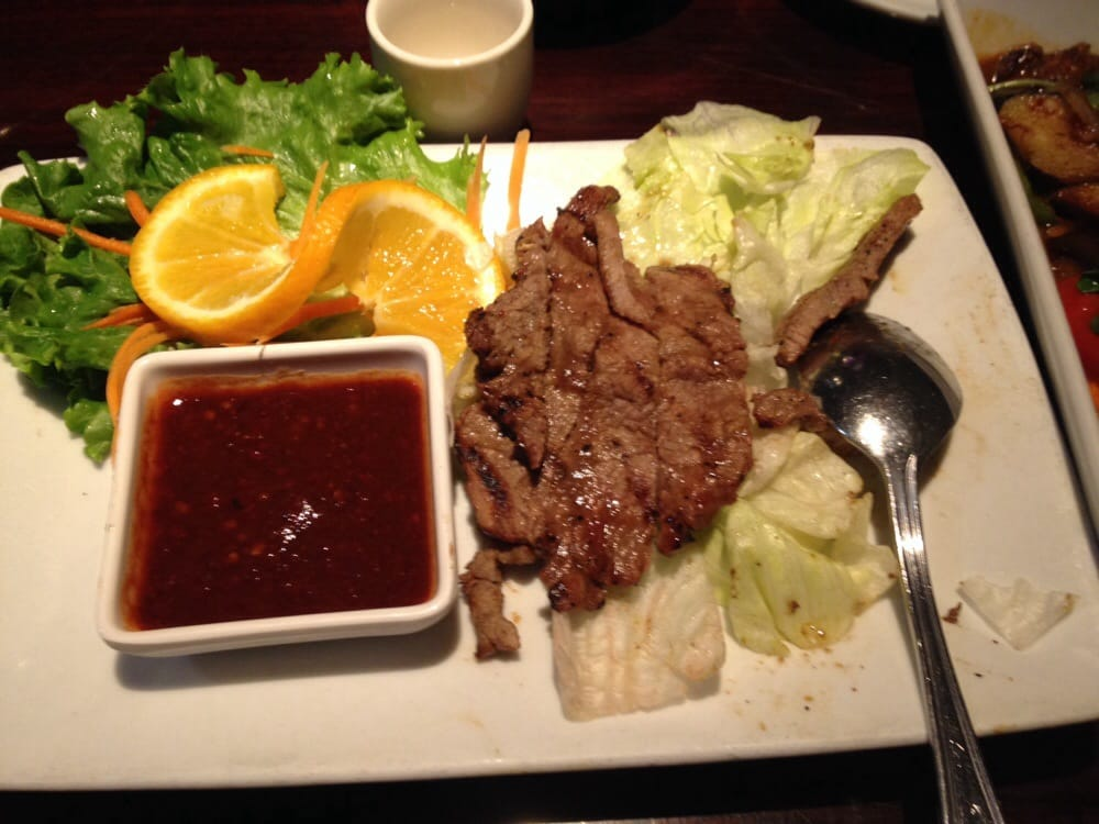 When tigers cry beef yelp for Ayara thai cuisine los angeles