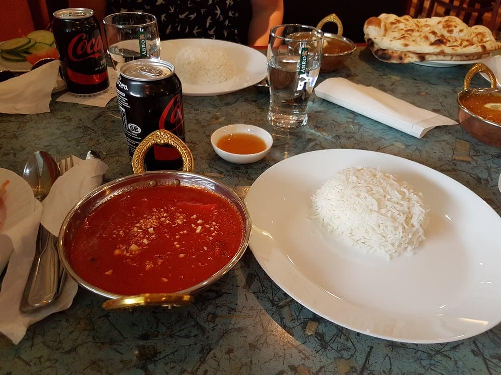 indisk restaurang handen