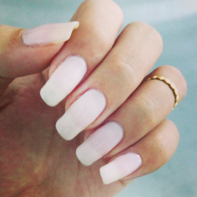 My NATURAL long nails with custom color cal gel - Yelp