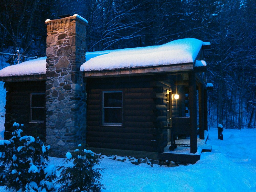 Rustic Log Cabins: 1450 Sugar Hill Rd, Lisbon, NH