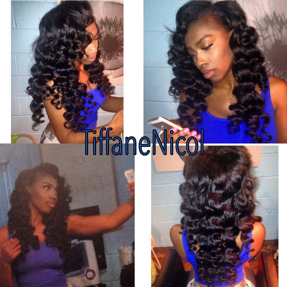 Sew In With Virgin Remy Hair And Wand Curls Atlanta Sew