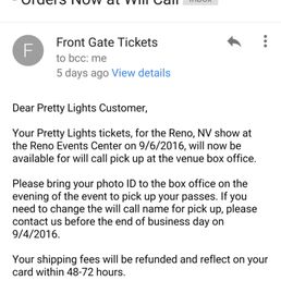 Photo Of Front Gate Tickets   Austin, TX, United States. Ordered My Ticket