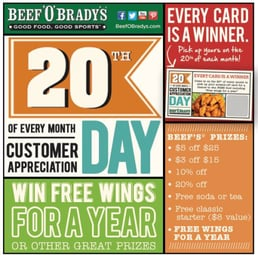 Beef O Bradys Restaurants Near Me