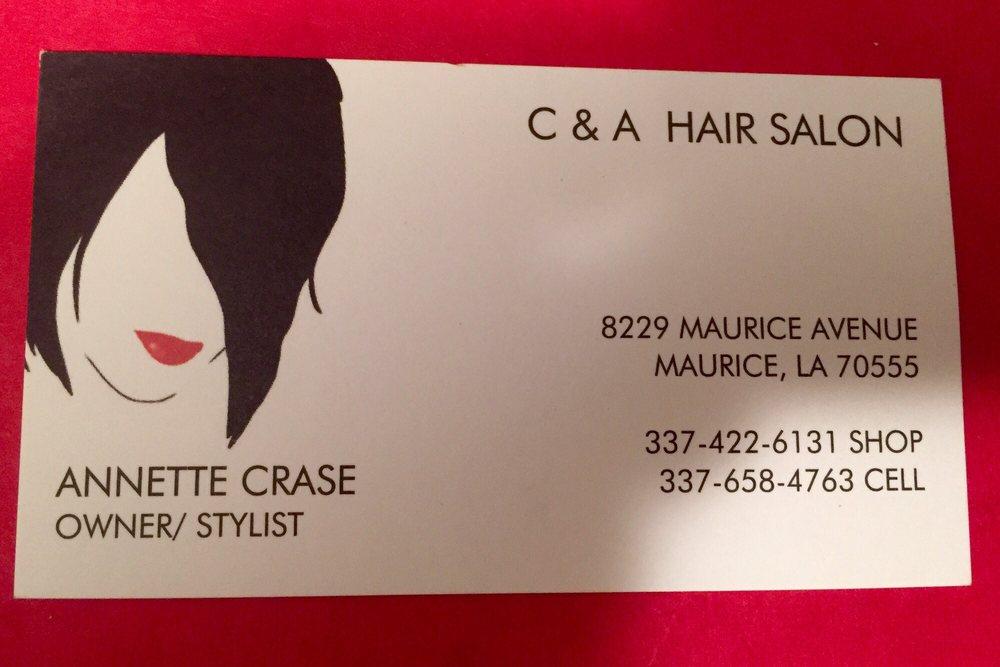 C&A Hair Salon: 8229 Maurice Ave, Maurice, LA
