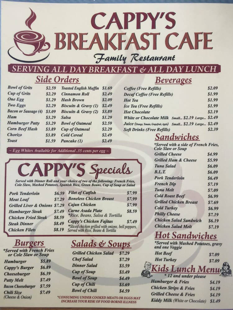 Cappy S Cafe Yelp