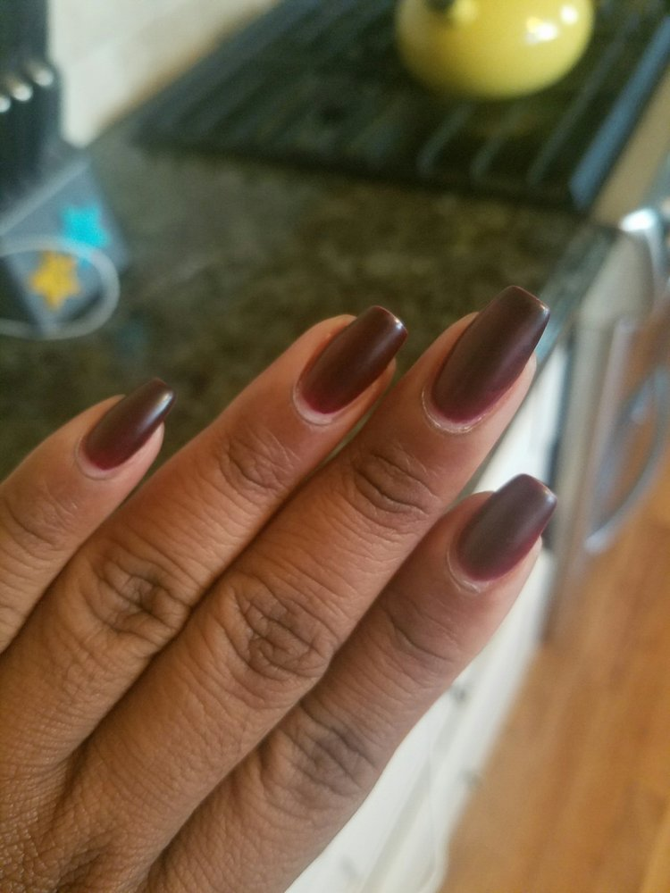 Matte nails by Tze. This is a week old (my nails grow fast) - Yelp