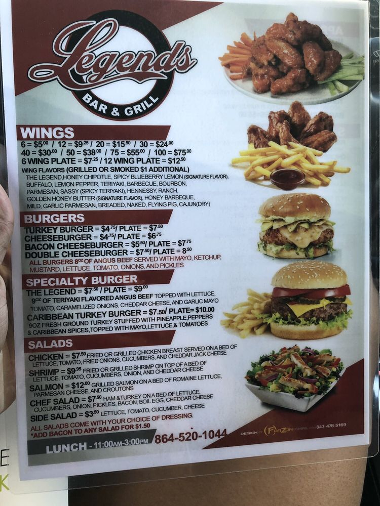 Legends Bar and Grill: 93 Halton Rd, Greenville, SC