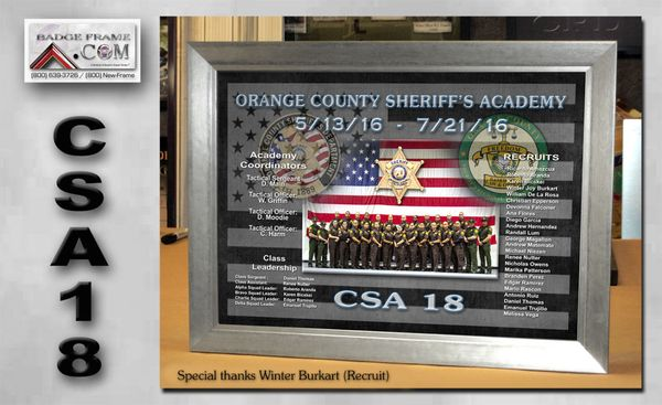 Badge Frame 3811 Schaefer Ave Ste A Chino, CA Police