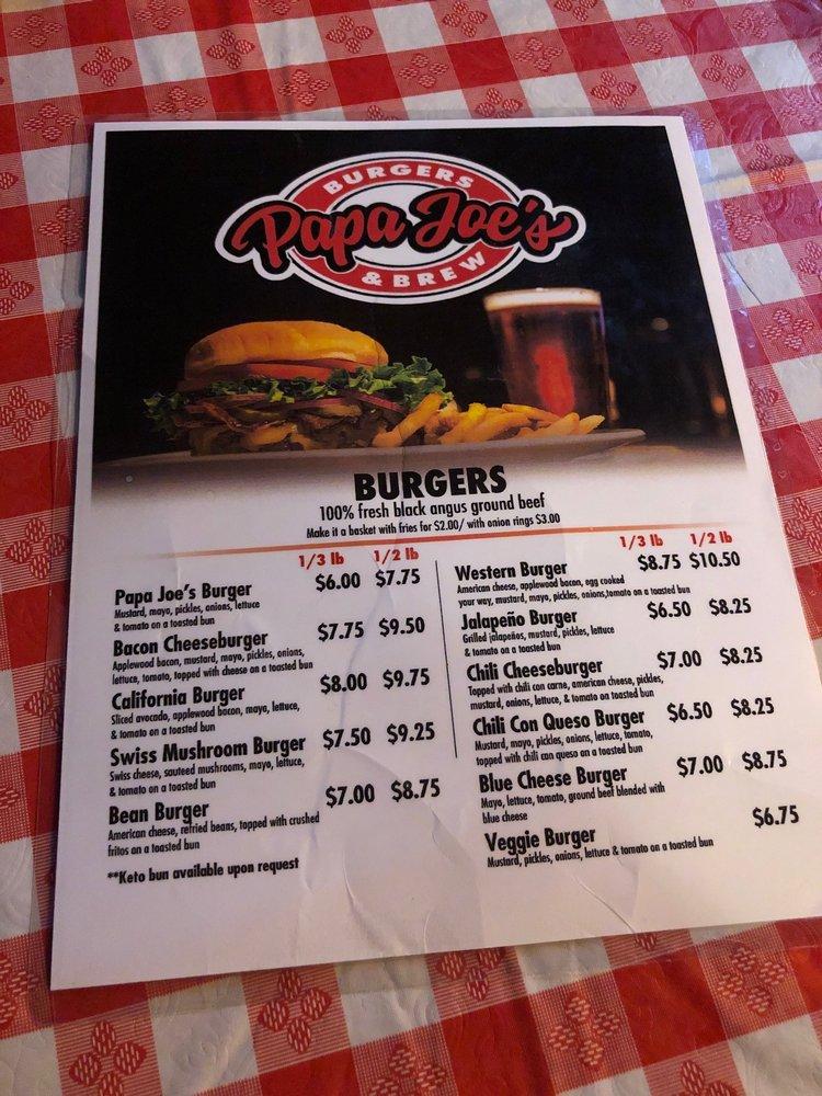 Papa Joe's Burgers & Brew: 422 N L St, Harlingen, TX