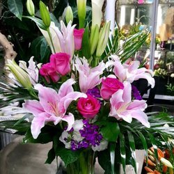 Photo of Arrowhead Flowers - Chandler, AZ, United States. Soft Pink Lily Bouquet