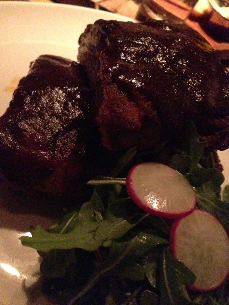 ... of Edge Steak & Bar - Miami, FL, United States. Slow smoked pork ribs