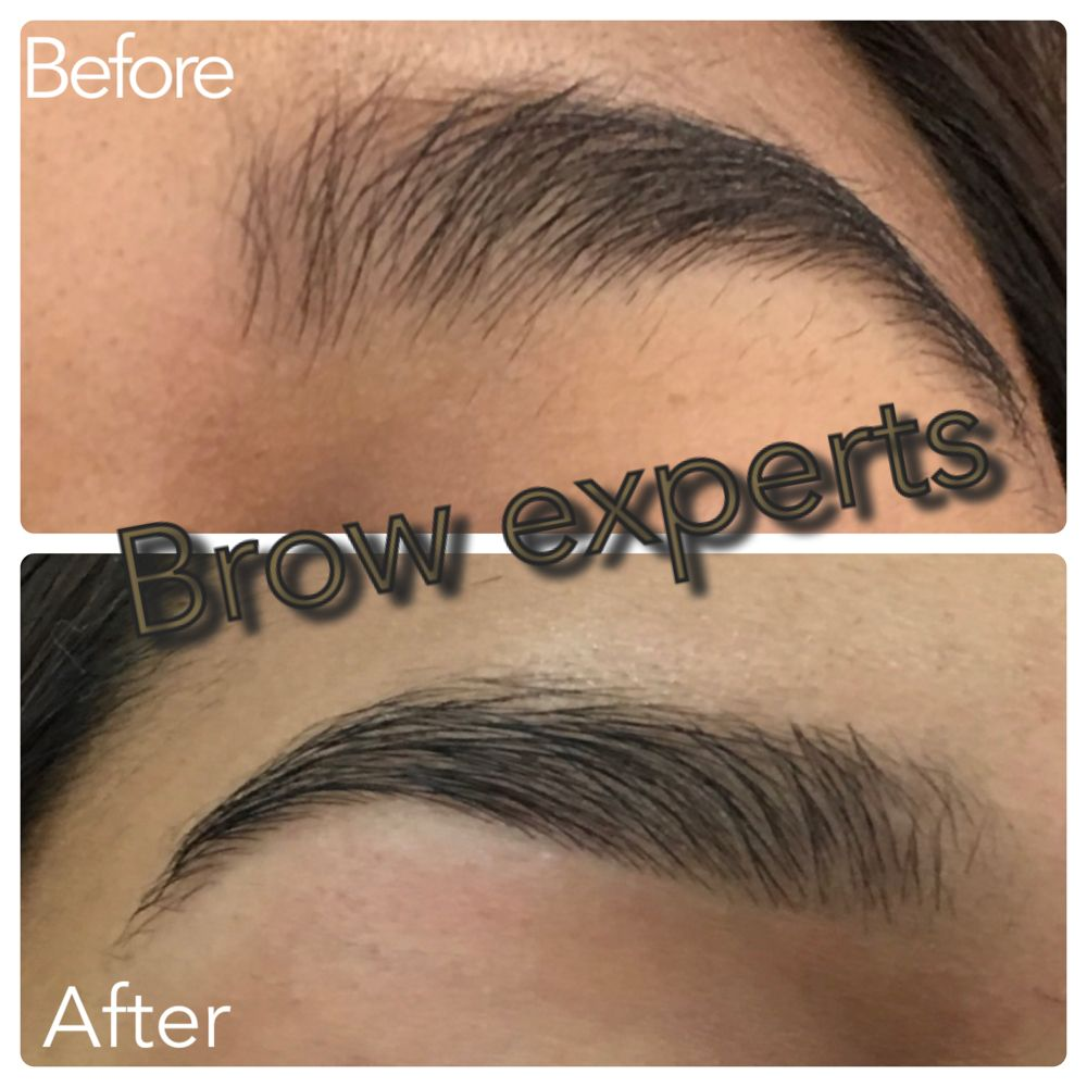 Eyebrow threading before and after our client from San ...