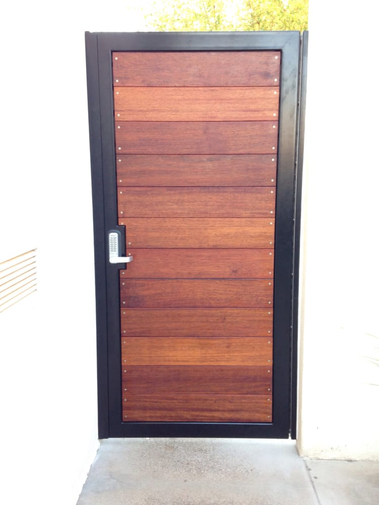 Horizontal Wood And Metal Keyless Entry Gate Yelp