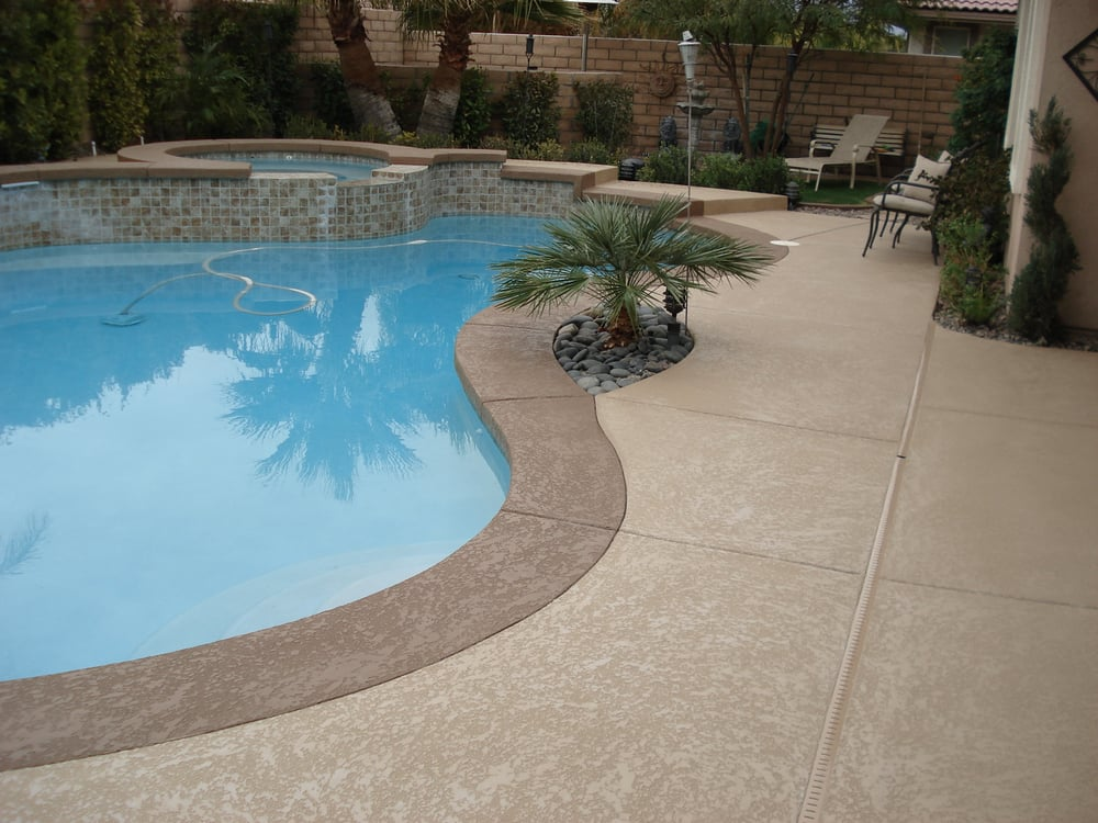 Knockdown texture pool deck yelp for Pool design pattern