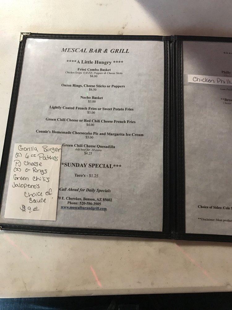 Mescal Bar & Grill: 70 N Cherokee Trl, Benson, AZ