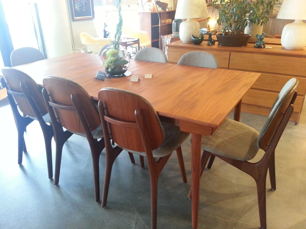 Restored Teak Dining Chairs And Table Yelp