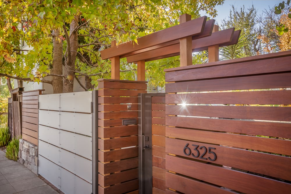 Horizontal Ipe Fence And Arbor Yelp