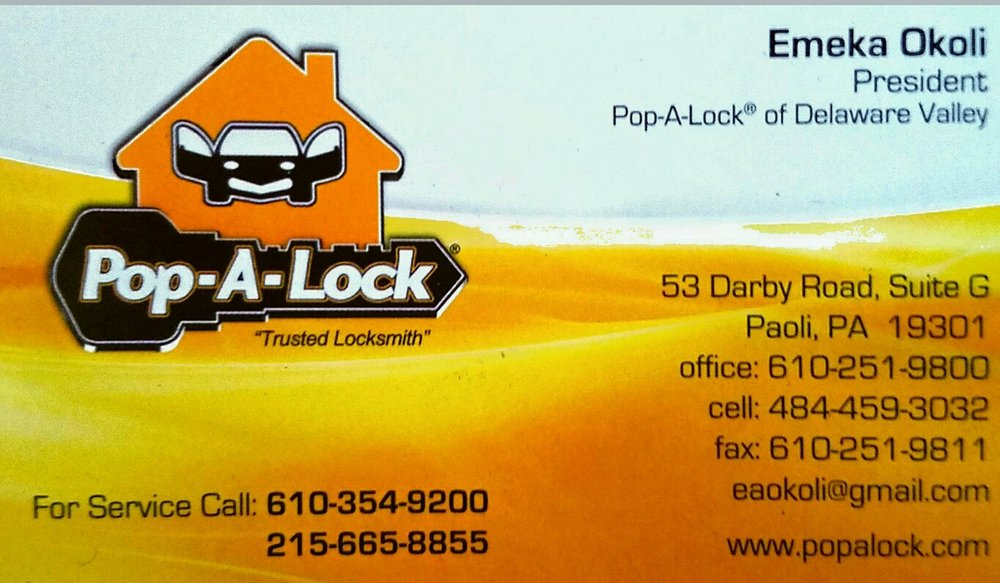 Pop-A-Lock of Chester & Mongomery County: 53 Darby Road Ste G, Paoli, PA