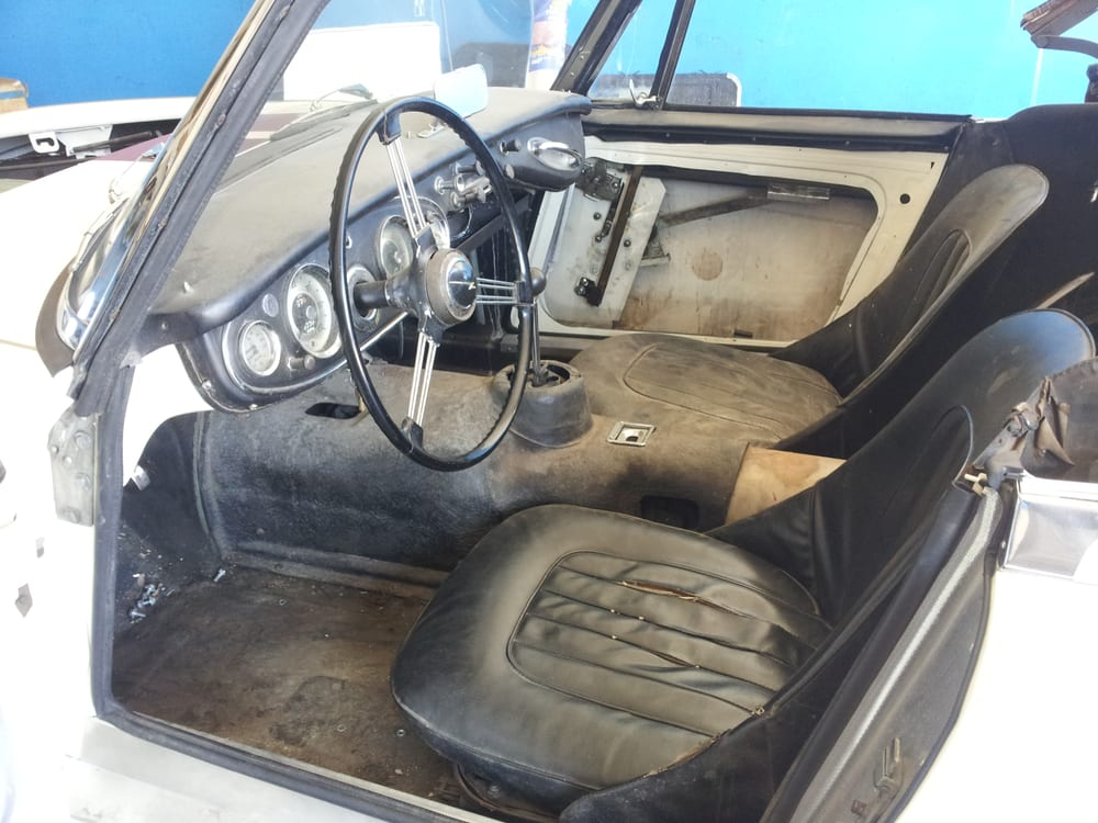 austin healey 3000 before interior restoration yelp. Black Bedroom Furniture Sets. Home Design Ideas