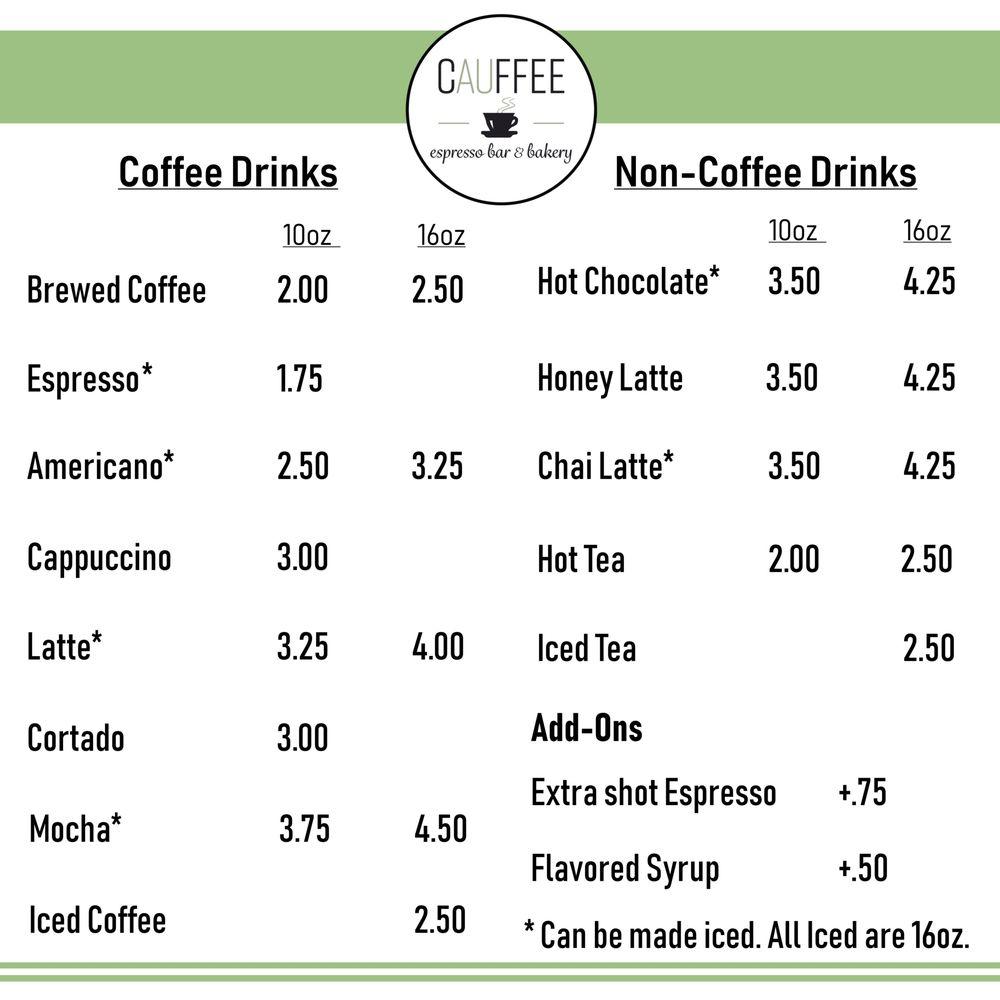 Cauffee espresso bar & bakery: 121 W Huron Rd, Au Gres, MI