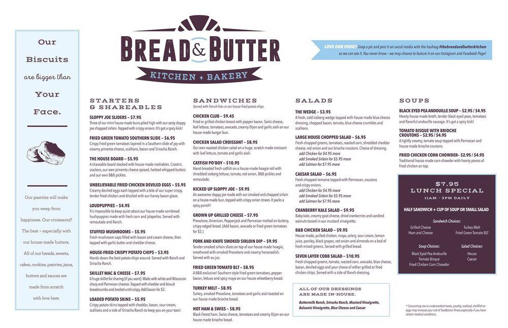 Bread And Butter Kitchen Menu Tulsa