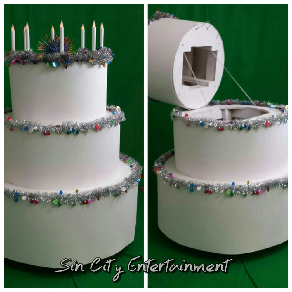 Giant Pop Out Cake For Birthday Party Entertainment Hire One Of Our