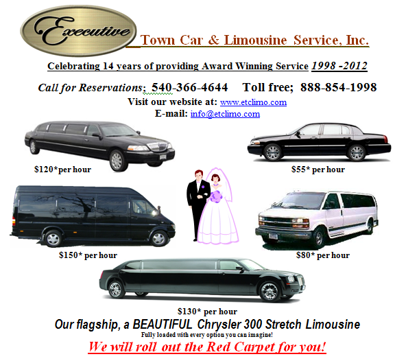 Executive Town Car & Limousine Service: 616 Salem Ave SW, Roanoke, VA