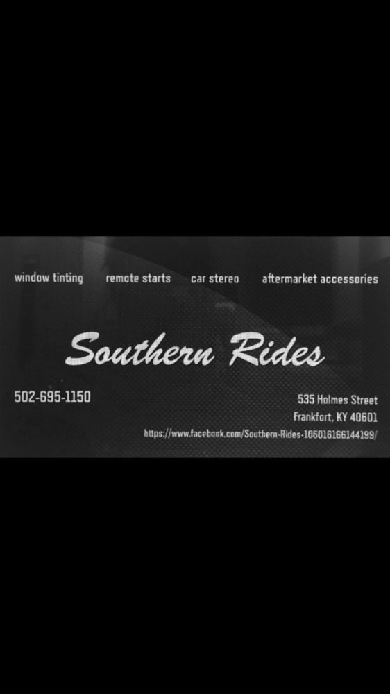 Southern Rides: 535 Holmes St, Frankfort, KY