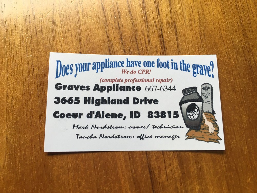Graves Appliance: 3665 Highland Dr, Coeur D Alene, ID